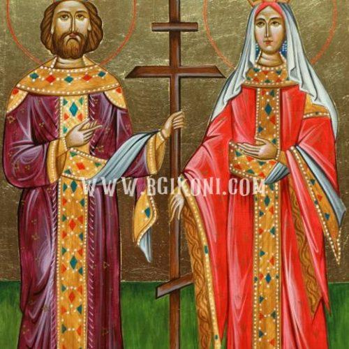 Икона на Свети Константин и Елена