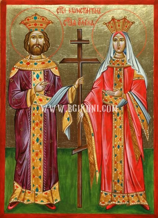 Икона на Св Константин и Елена