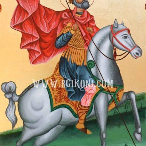 Икона Свети Вмч Мина на кон