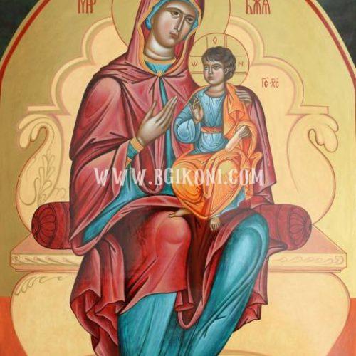 """Икона Богородица """"Пътеводителка на трон"""""""