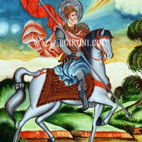 Репродукция икона Свети Мина на кон