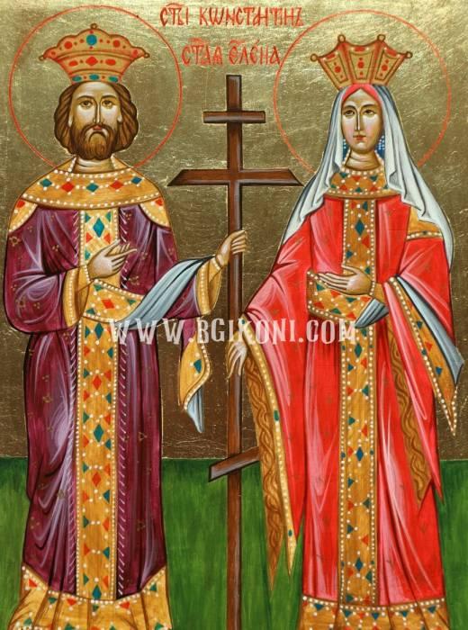 Репродукция икона Свети Константин и Елена